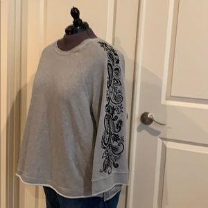 Seven brand embellished bell sleeve sweatshirt 2X
